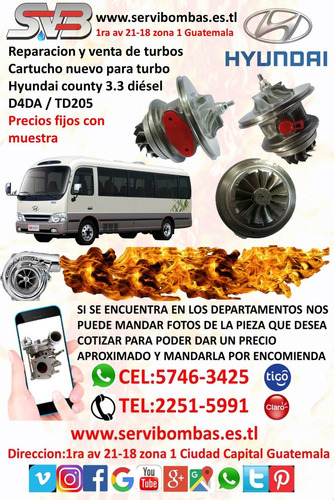 turbo nuevo hyundai h1,starex 2.5 d4bh/tf035 guatem