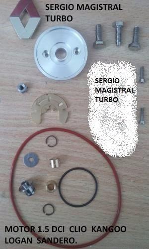 turbo renault kit basico rep 1.5 dci clio kangoo logan sande