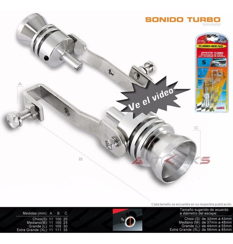 turbo sound grande sonido turbo simulador valvula escape55mm