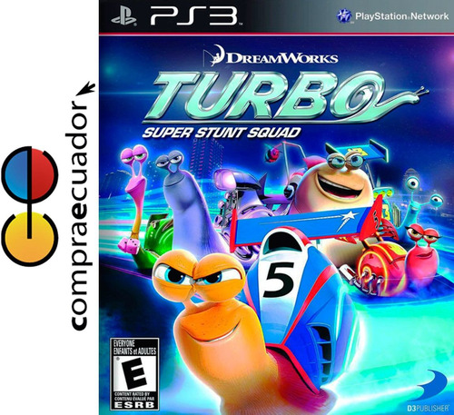 turbo super stunt squad ps3, juego original sellado ps3.