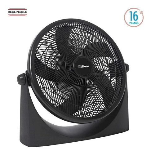turbo ventilador 16 liliana vtf16p 5 aspas 3vel 65w negro