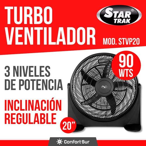 turbo ventilador 20  star trak stvp20 90w envío * 12