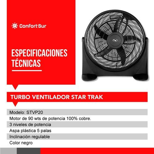 turbo ventilador 20  star trak stvp20 90w envío **12
