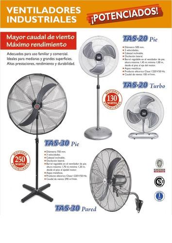turbo ventilador industrial de 20   tas - 130 w