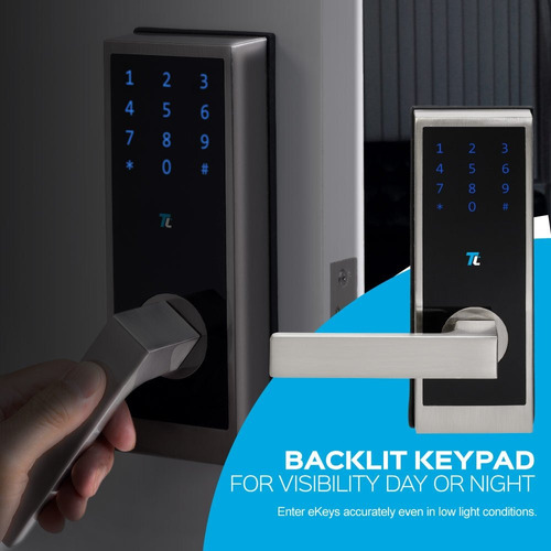 turbolock tl-100 bluetooth smart lock w- monitoreo en tiempo