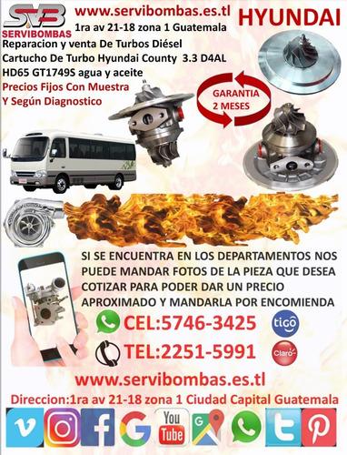 turbos hyundai county 3.3 d4al diesel  en guatemala