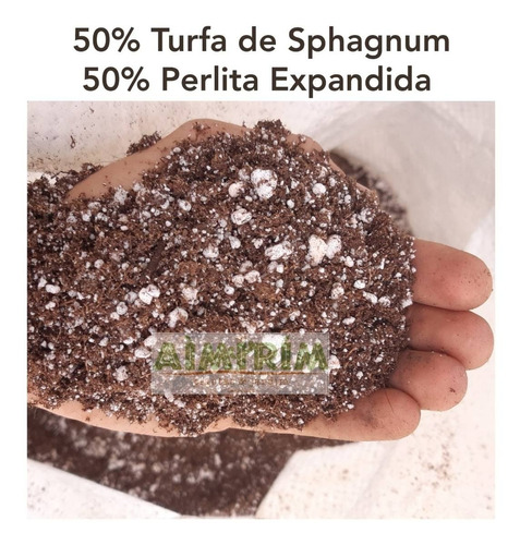 turfa e perlita - substrato para cultivo indoor 10 litros
