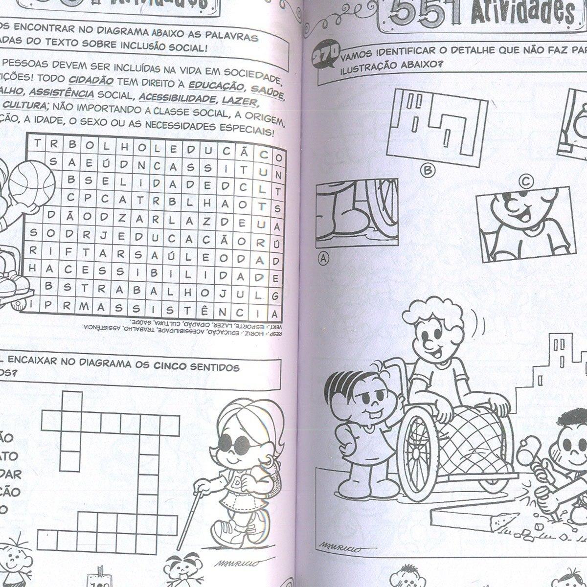 Turma Da Monica 501 551 Atividades E Desenhos Colorir 2 Vols R