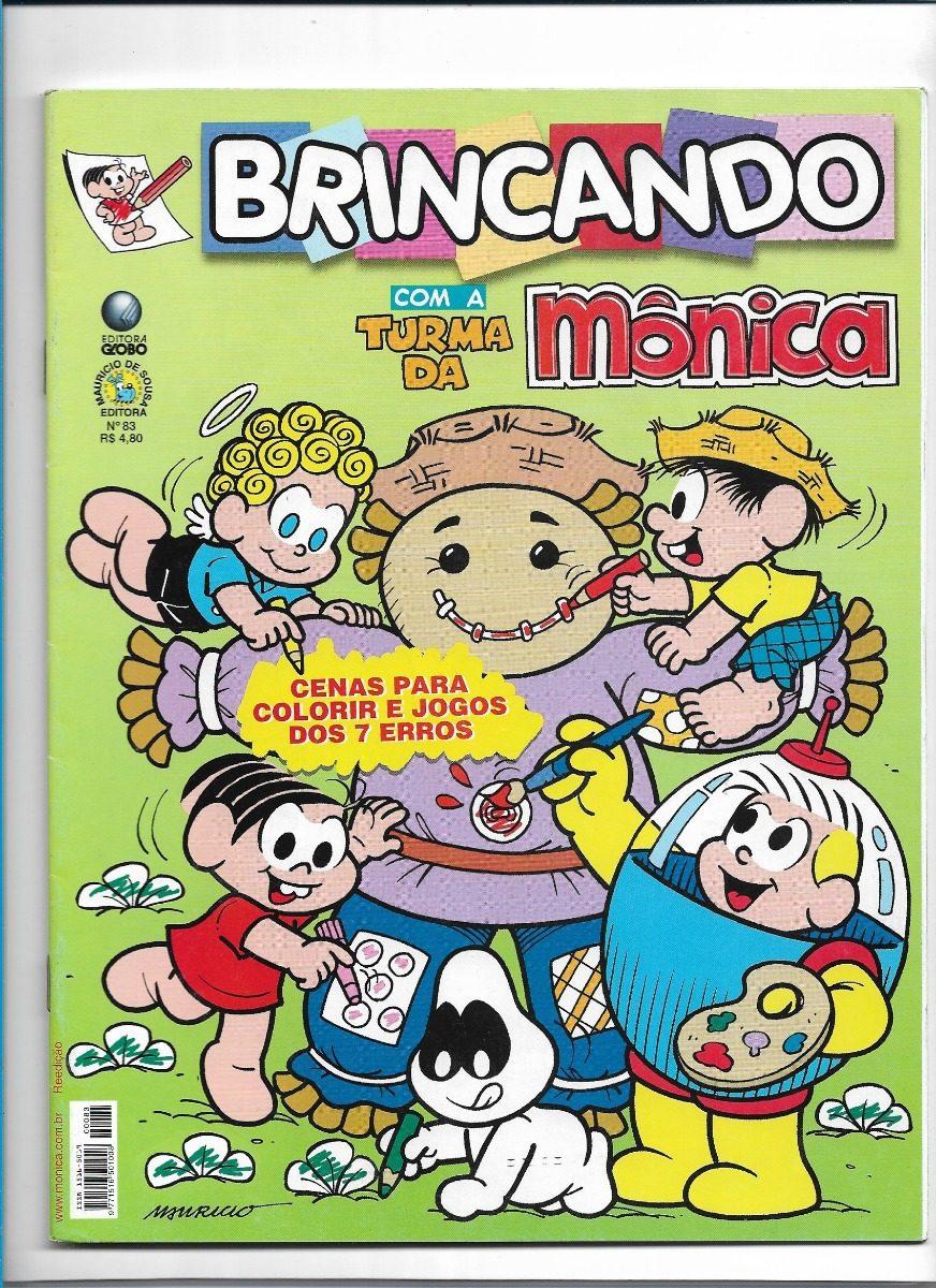 Turma Da Monica Revista Brincando Ed 83 Passatempos Jogo Dos R