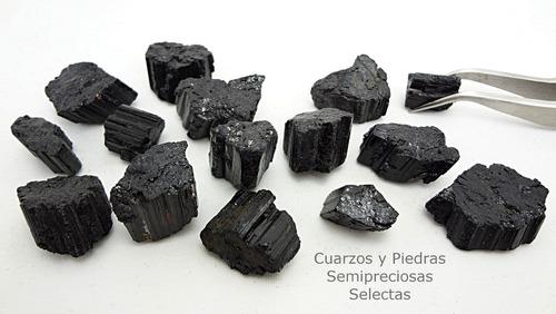 turmalina negra 15 pzas protectora calidad de joyería 60g