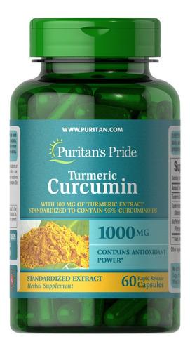 turmeric curcumin  bioperine açafrão 1000 mg - 60 capsulas