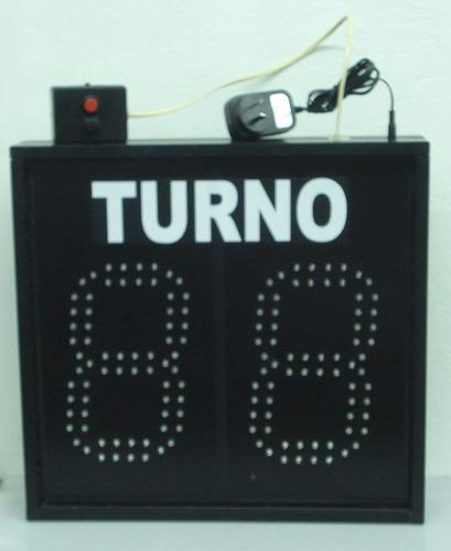 turnero electrónico de led alto brillo dos dígitos grandes