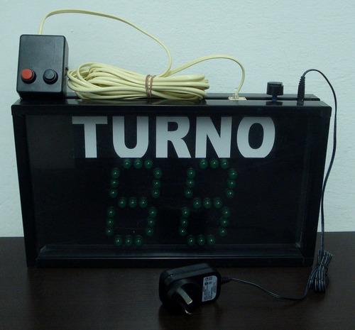 turnero electrónico de led de dos dígitos