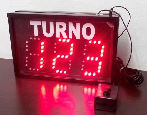 turnero electrónico de led de tres dígitos