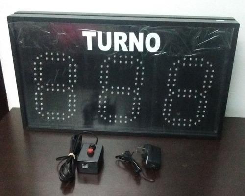 turnero electrónico led 3 dígitos - control cableado