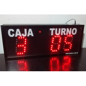 Turnero Led Caja Y Turno- Control Cableado - Hasta 6 Cajas