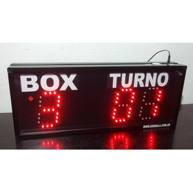 Turnero Led Caja Y Turno Con 2 Controles Llavero Inalambrico Rf