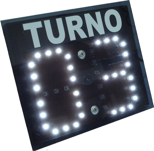 turnero táctil led alto brillo dos dígitos