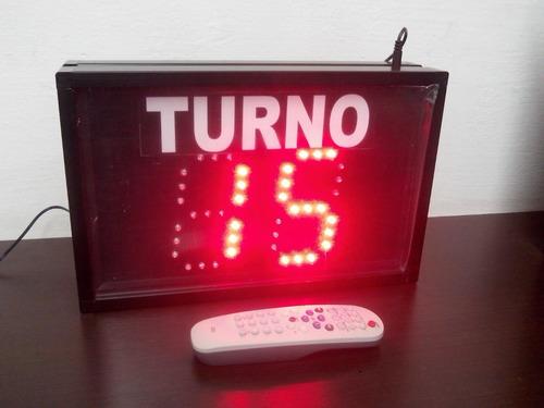 turnero  y contador dos dígitos - inalambrico infrarrojo