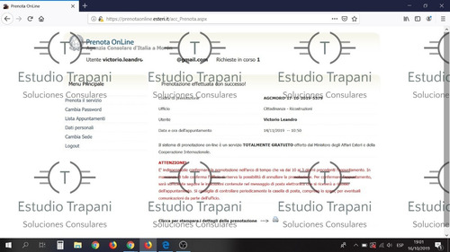 turno ciudadania italiana - hijo directo - prenota online