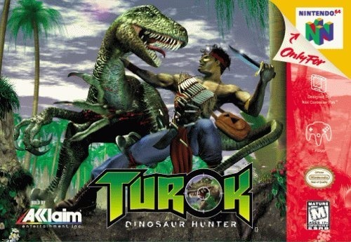 Turok: Dinosaur Hunter-cover game/ top game n64