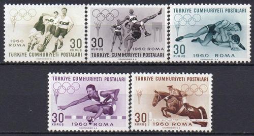 turquia - olimpíadas - 1960 - s/completa