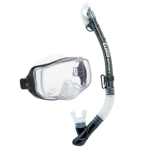 tusa sport adulto imprex 3d máscara seca y snorkel combo, hu