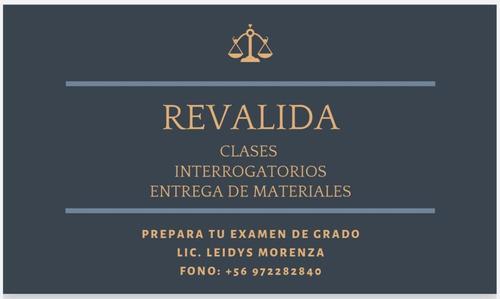 tutor para examen de grado (clases e interrogaciones).