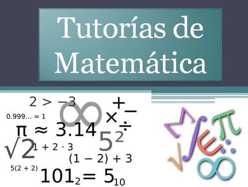 tutorias de matemáticas