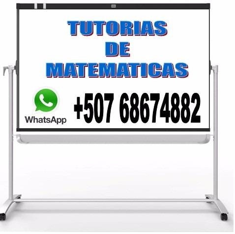 tutorias de matematicas a domicilio $20
