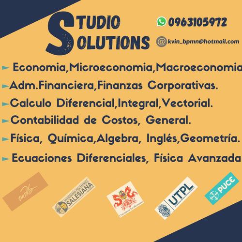 tutorias estadistica, finanzas,costos,calculo,economia,etc