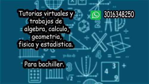 tutorias virtuales y trabajos de matematicas