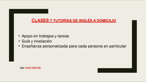 tutorías y clases de inglés a domicilio
