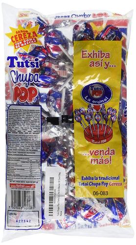 tutsis chupa cereza del estallido de paletas, paletas sabor