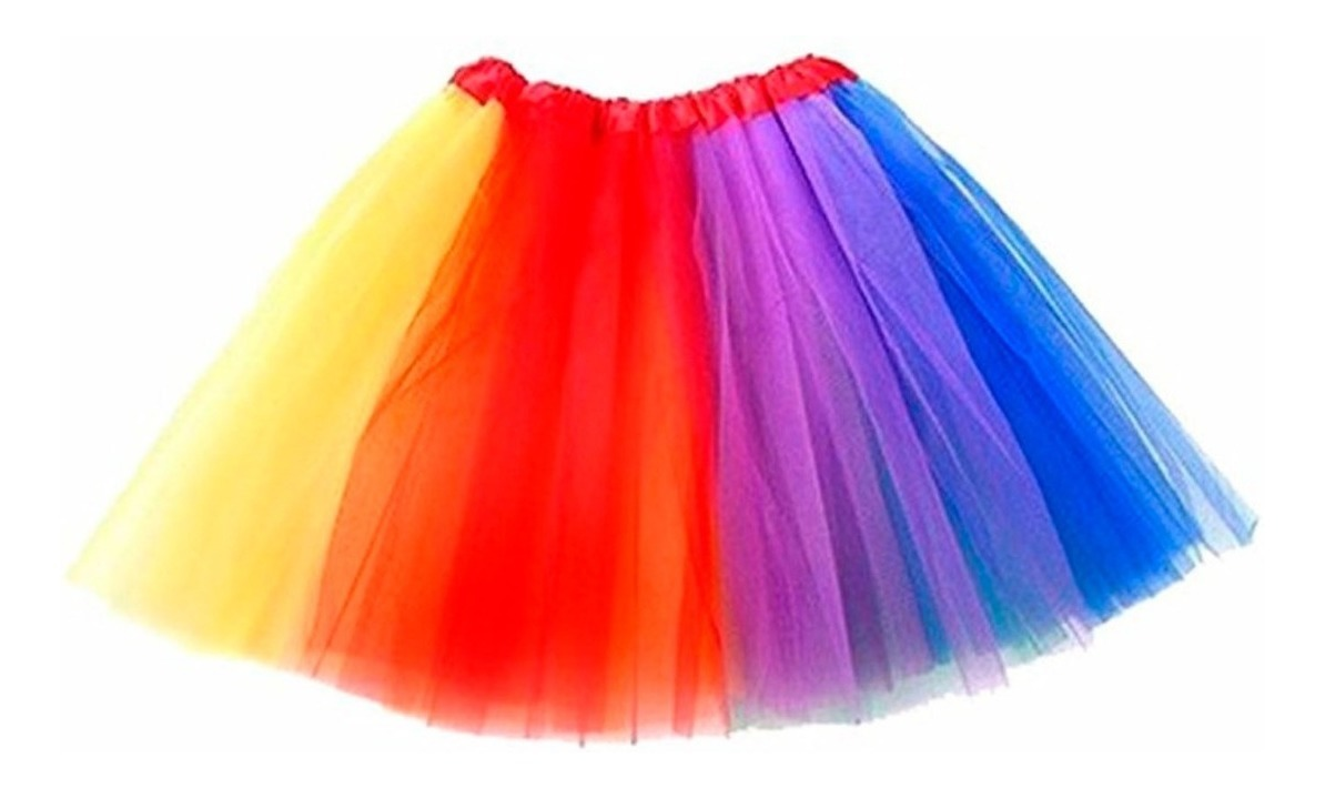 3661f57ce Tutu Arcoiris Falda Niña Ballet Disfraz Unicornio Fiesta Mnr