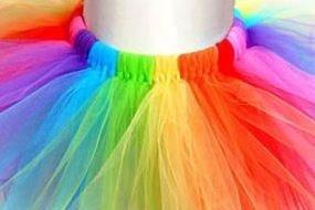 tutu arcoiris raimbowdash unicornio pony ballet 2 a 6 años