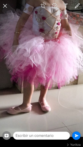 tutu barbie bailarina!!! con trapecios incluidos talla 6/7