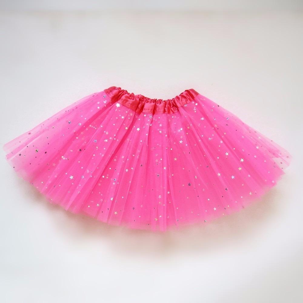 tutu de tul con raso y brillos ideal accesorio disfraz nenas 170