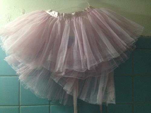 tutu de tul delgado rosa ballet  niña dino