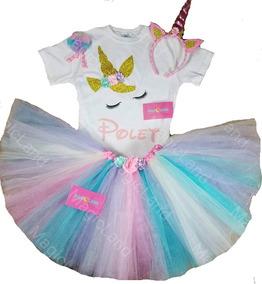 301920dd4682 Tutu De Unicornio Disfraz Personalizado Con Glitter!
