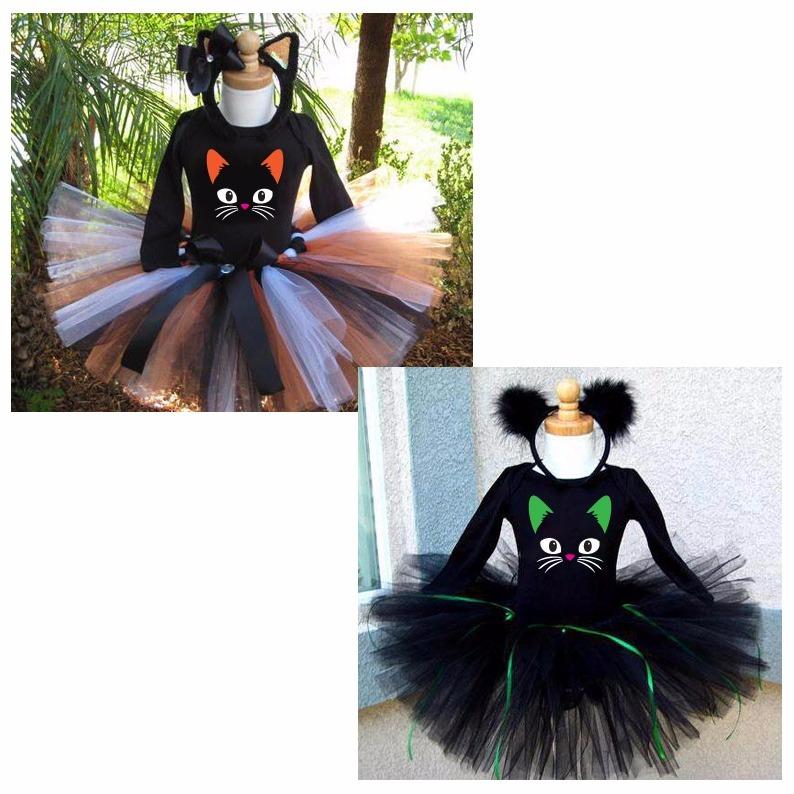 Tutu Disfraz Gatita Halloween Nia 38000 en Mercado Libre