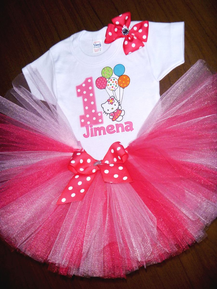 Tutu disfraz hello kitty vestido beb ni a personalizado - Hello kitty bebe ...