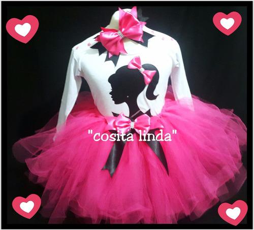 tutu disfraz nena barbie incluye vincha envío gratis