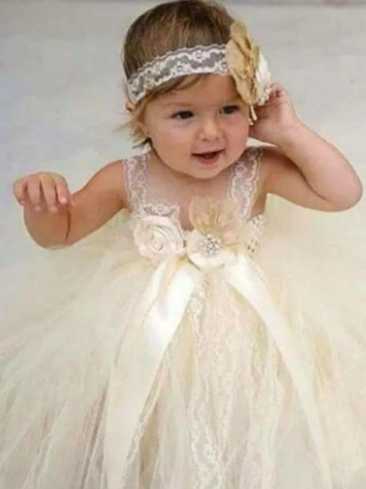 Tutu Dress Vestido Para Bautizo Tallas 0 A 3 Años