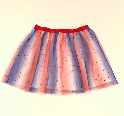 tutu escarchado con estrellas falda disfraz