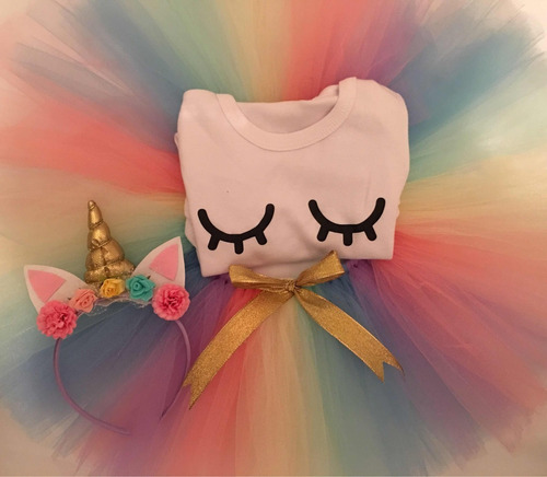 tutu para nenas tematica unicornio