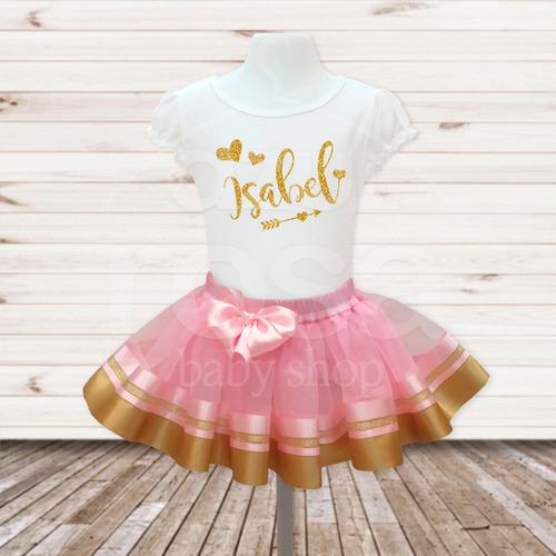 tutus conjunto falda tutu y franela personalizada cumpleaños