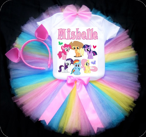 tutus personalizados disfraz my little ponny talla 7 a 10