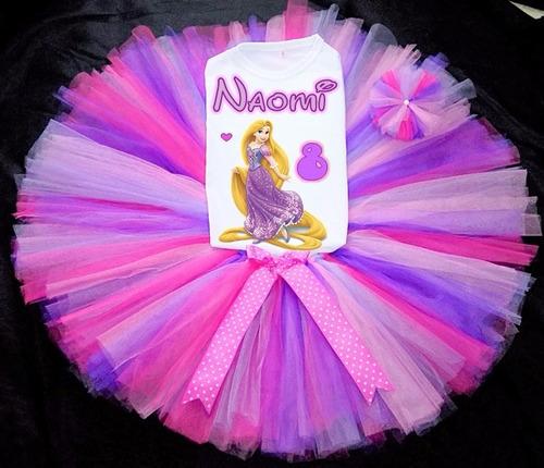 tutus personalizados  princesas, bella, rapunzel, cenicienta
