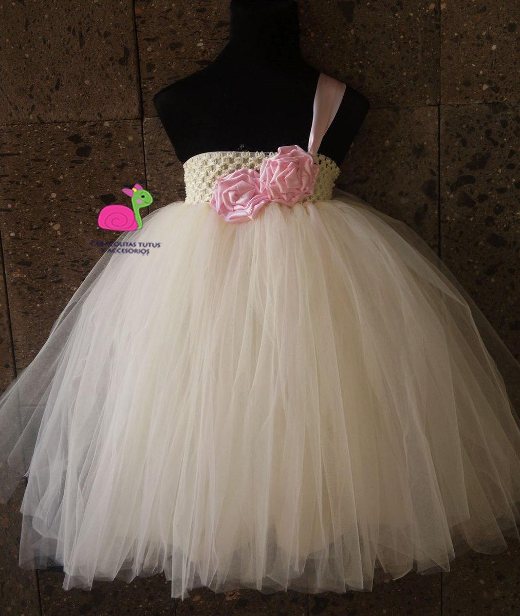 84b4ff3da Tutus Tutu Dress Para Pajesitas Bodas Bautizo -   800.00 en Mercado ...